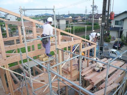 屋根大垂木工事