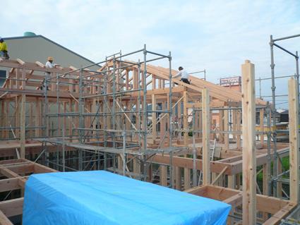 屋根大垂木工事2